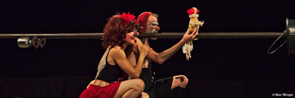 Photo du spectacle de cirque Nez pour s'aimer de la Cie Les Pêcheurs de rêves